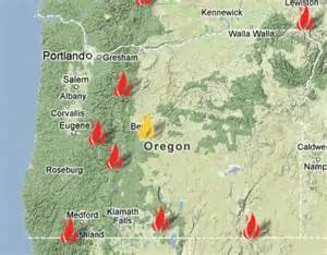 map of oregon fires oregon map map2
