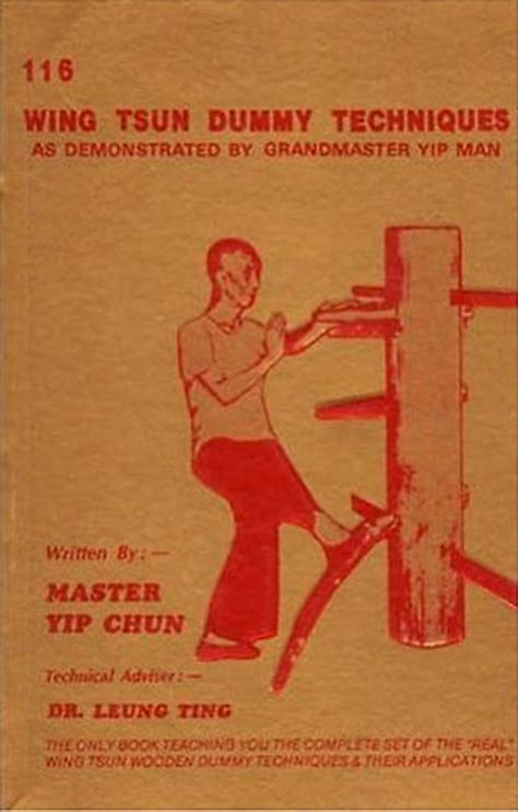 wing books yip chun ting leung 116 wing tsun dummy techniques hong