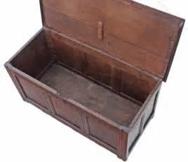 georgian 18c oak chest coffer trunk coffee table