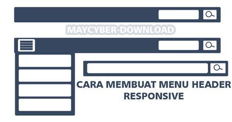 cara membuat html responsive cara membuat menu header plus tombol search responsive