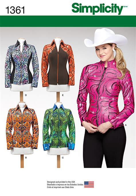Simplicity 1361 Misses' Knit Equestrian Performance Shirt