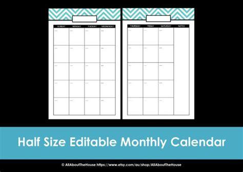 printable calendar half page printable calendar 2 page month printable us letter half