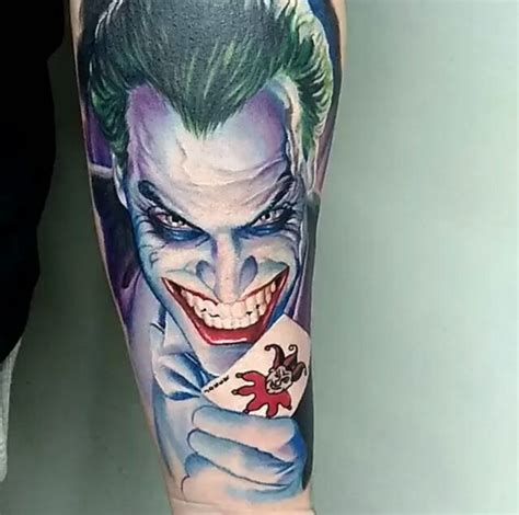 joker getting tattoo do you like the joker from batman check out these awesome