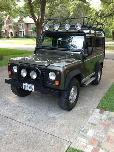 buy car manuals 1997 land rover defender 90 buy used 1997 land rover defender 90 limited edition number 187 of the 300 made in austin