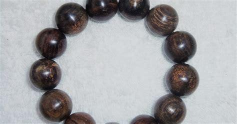 Kalung Tali Kayu Bulat Resin gelang gaharu buaya grade a 16mm tali karet indahcraft