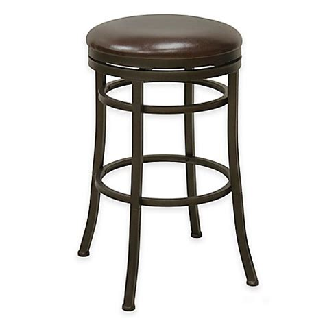 countertop swivel bar stools backless swivel stool in bronze bed bath beyond