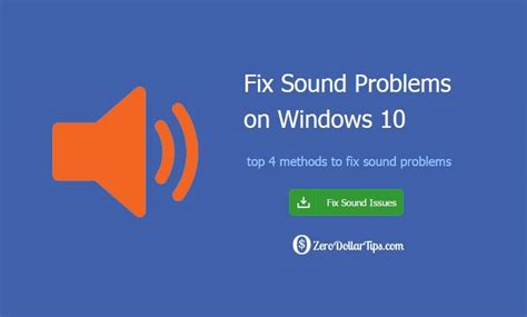 how to fix sound problems top 4 methods to fix windows 10 sound problems