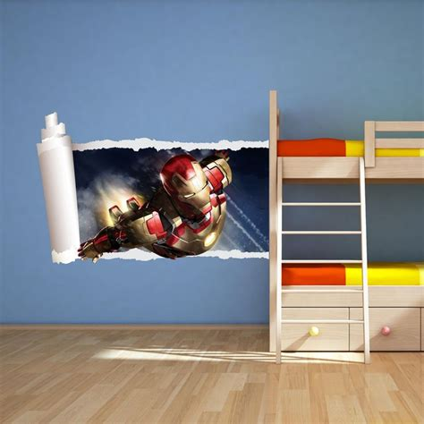 iron man bedroom iron man full colour avengers wall art sticker boys