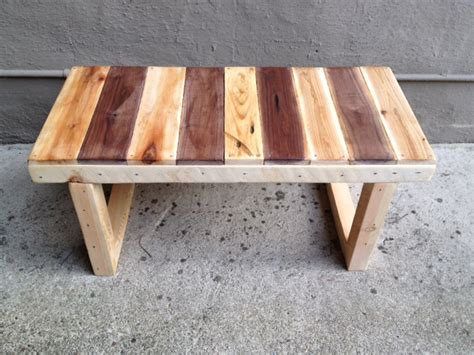bench made from wooden pallets wee bench handsome craftworks