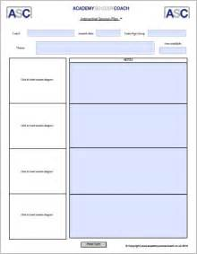 Session Plan Template by Interactive Session Plans Academy Soccer Coach Asc