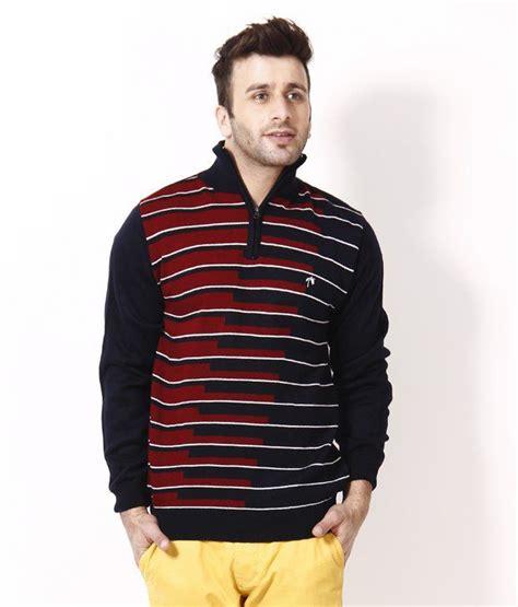Combi Maroon Navy Sweater Terlaris fabtree navy maroon zipped neck sweater buy fabtree navy maroon zipped neck sweater at