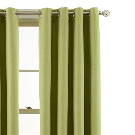 green grommet curtains marthawindow fairview grommet top blackout panel in