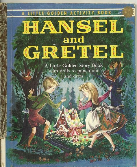 hansel and gretel picture book 1961 golden book hansel and gretel ebay my