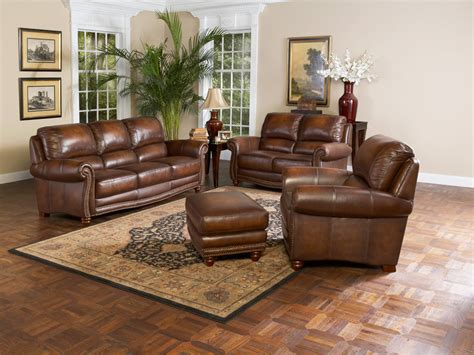 Leather Sofa In Living Room Leather Living Room Furniture