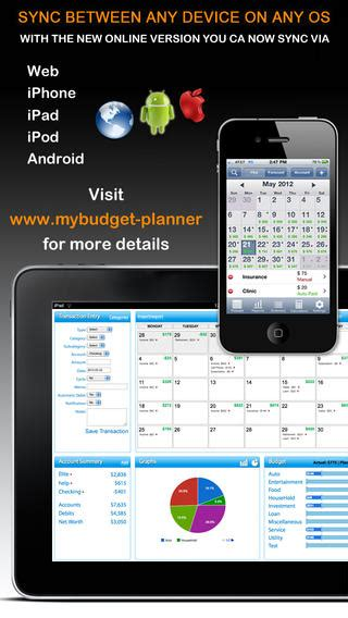 Budget Calendar App Iphone Budget Planner Web Sync Income And Expense Balance