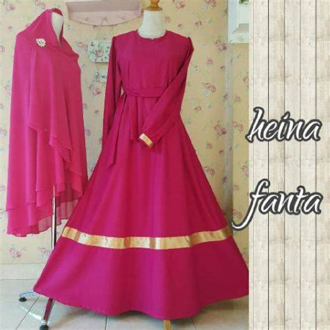 heina dress by aidha jual busana muslim