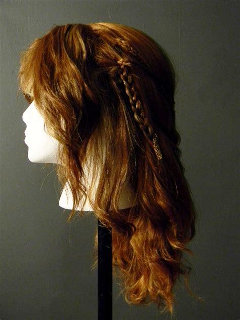 celtic warrior hair braids viking celtic warrior braid costume wig side 2 by