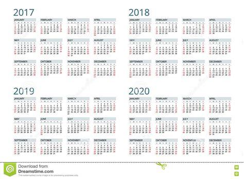 Calendã Sp 2017 Calendar For 2017 2018 2019 2020 Week Starts Sunday