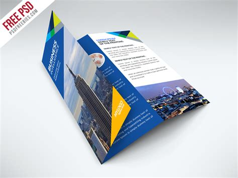 free business trifold brochure psd template free psd