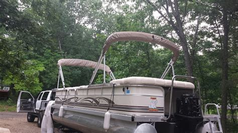 how to install bimini top on pontoon second bimini top install pontoon boat deck boat forum