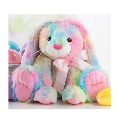 Colored Kitchen Knives ganz sugarpuff tie dye bunny rabbit plush 9 inch
