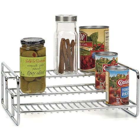 kitchen shelf risers three tier can rack in shelf risers and organizers