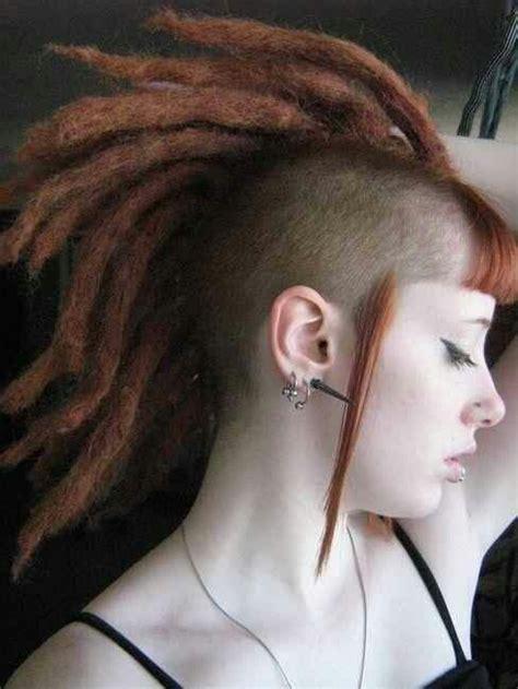 dread hawk hairdo mohawk dreads hair inspirations pinterest