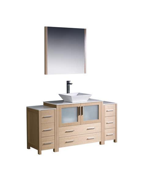 60 bathroom vanity light 60 inch vessel sink bathroom vanity in light oak