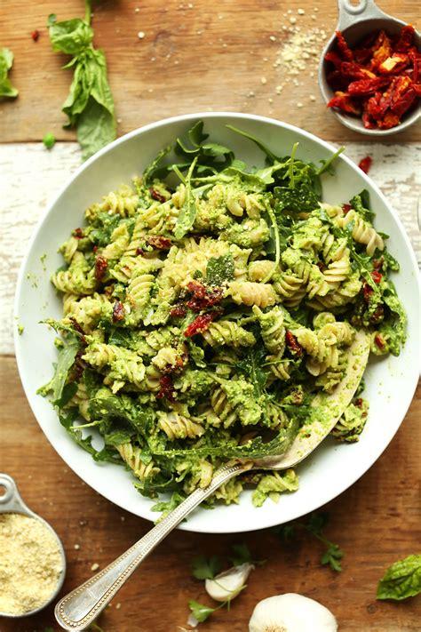 best vegetarian pasta recipes pea pesto pasta with sun dried tomatoes minimalist baker