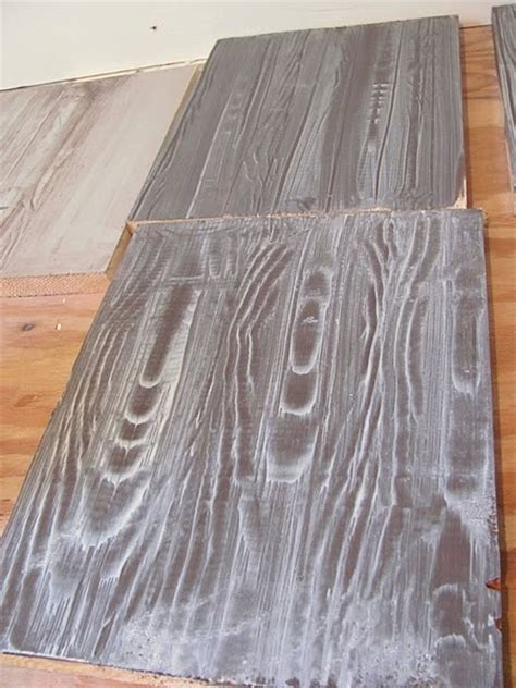 Faux wood floors with a wood grain tool   simply genius