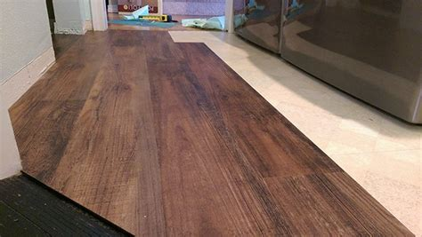 transform your laundry room floor with faux wood vinyl