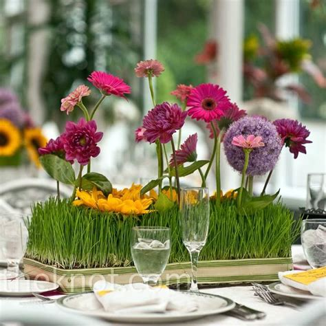 wheat grass centerpieces wheatgrass and floral centerpieces