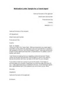 motivation letter sample for a travel agent hashdoc