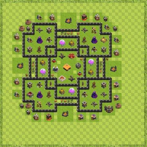 layout coc level 21 war base town hall level 9 by aldypisco anparta th 9