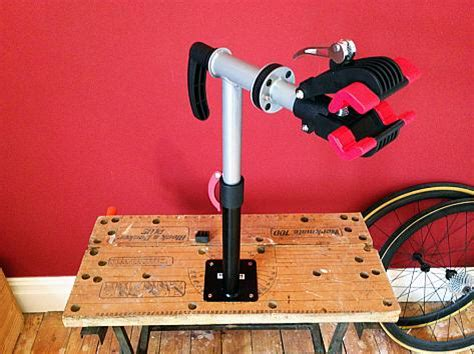 bench bike repair stand review bench mounted bike repair stand from bd bikes