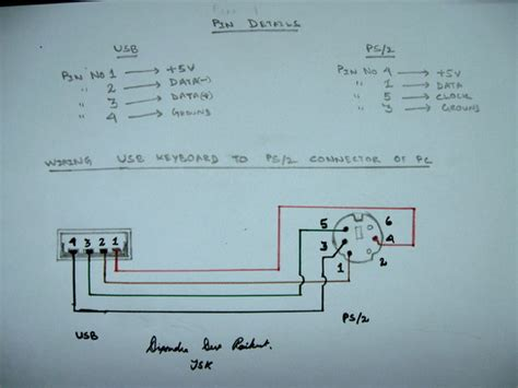 usb to ps 2 wiring diagram wiring diagram schemes