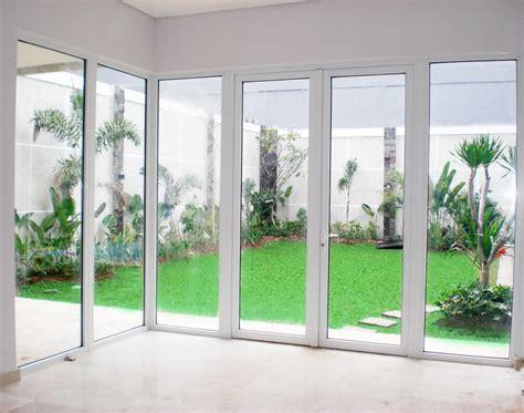 design pintu kaca aluminium pintu minimalis