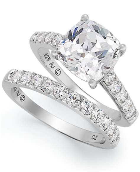 arabella sterling silver ring set swarovski zirconia