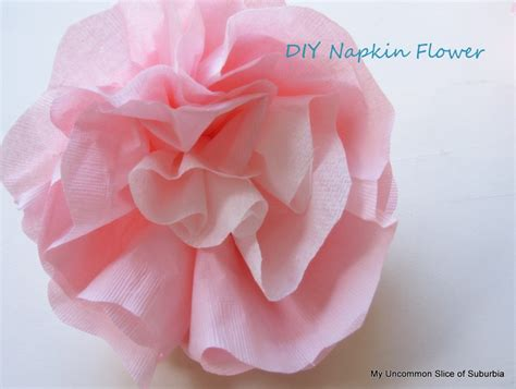 Paper Napkin Flower Folding - paper napkin flowers tutorial