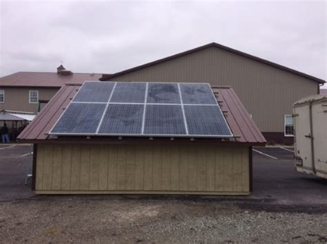 Solar Panel For Shed by New From Amish Builders The Solar Shed Updated