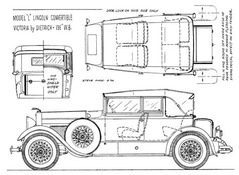 free blueprint lincoln model l 1920 blueprint download free blueprint