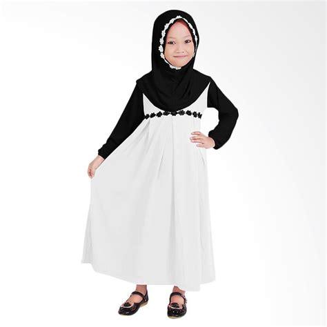 Gamis Anak Hitam Putih Jual Baju Yuli Baju Gamis Anak Perempuan Putih Hitam