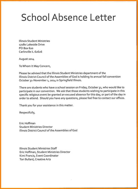 how to write letter school 5 absent letter school manager resume exle