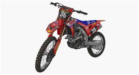 3d motocross racing 3d motocross bike honda crf250r turbosquid 1230181