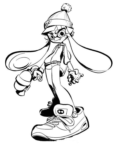 Splatoon 2 Coloring Pages by Splatoon 2 Coloring Sheet