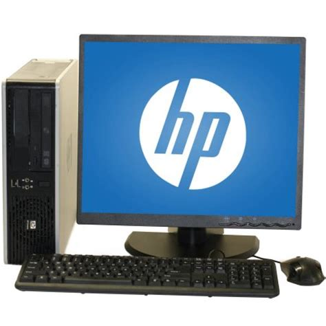 desk for desktop computer refurbished hp dc5800 desktop pc with intel 2 duo
