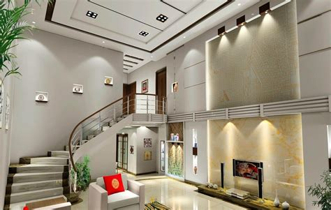 Chinese duplex house living room and stairs