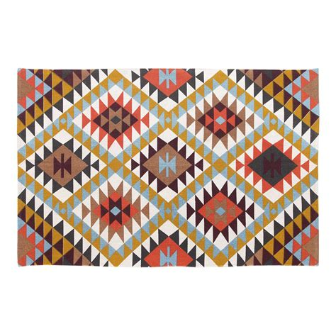 large multi coloured rugs new small and large modern soft multi coloured geometric printed rugs ebay