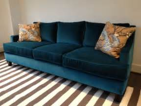 Teal Colored Couches George Sofa By Dwell In Teal Velvet For The Home