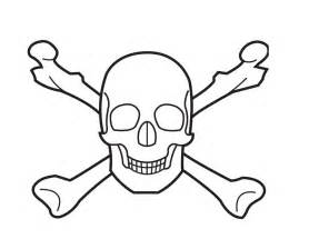 Skull Bones Colouring Pages sketch template